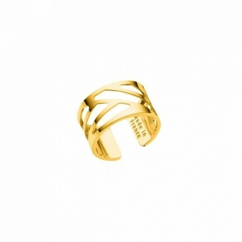 LES GEORGETTES RUBAN RING – YELLOW GOLD – 12mm SIZE LARGE (58)