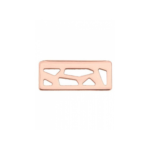 LES GEORGETTES GIRAFFE PENDANT RECTANGLE – ROSE GOLD – 25mm