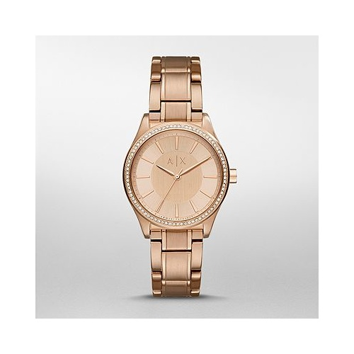 ARMANI EXCHANGE NICOLETTE ROSE GOLD-TONE AX5442