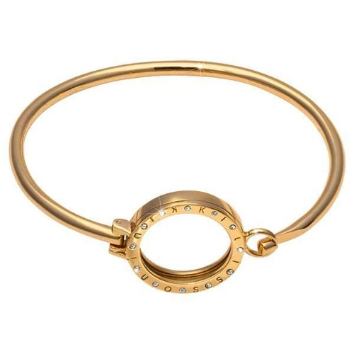 NIKKI LISSONI GOLD PLATED BANGLE WITH SWAROVSKI STONE SET PENDANT