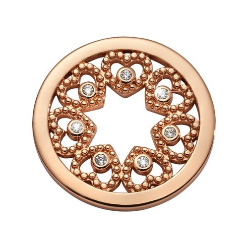 NIKKI LISSONI COUNTING LOVE STAR ROSE GOLD PLATED 23mm