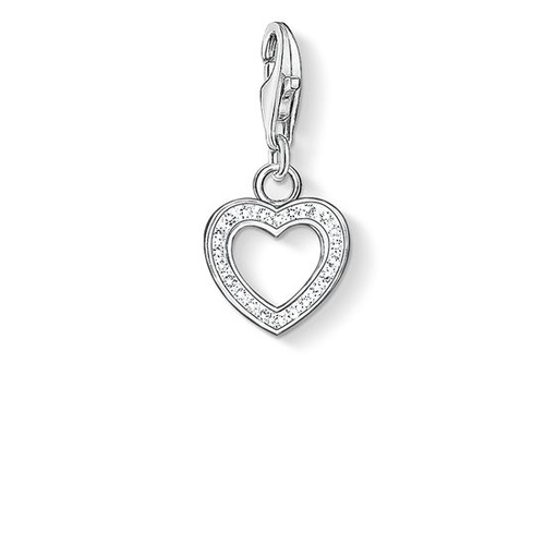 THOMAS SABO CHARM CLUB CUBIC ZIRCONIA OPEN HEART