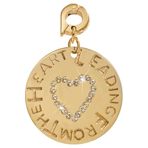 NIKKI LISSONI LEADING FROM THE HEART GOLD PLATED CHARM 25mm