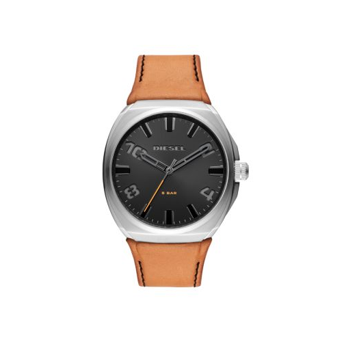 DIESEL STIGG TAN LEATHER WATCH