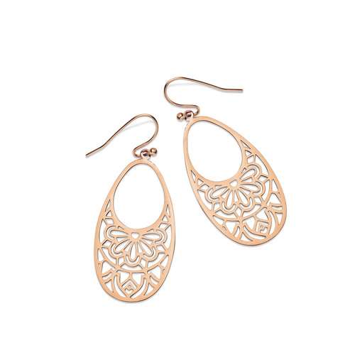 PASTICHE ROSE GOLD PLATED STAINLESS STEEL COLOUR THE SKY EARRINGS