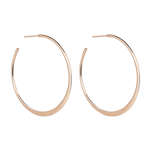 NAJO ESSENTIAL ROSE GOLD HOOP EARRINGS