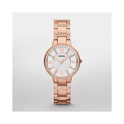 FOSSIL VIRGINIA ROSE TONE STONE-SET