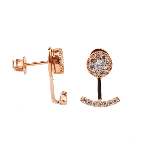 SANTO ROSE GOLD MINI CZ EAR JACKETS