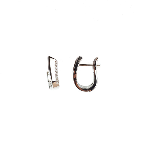 STERLING SILVER MODERN SMALL HOOPS
