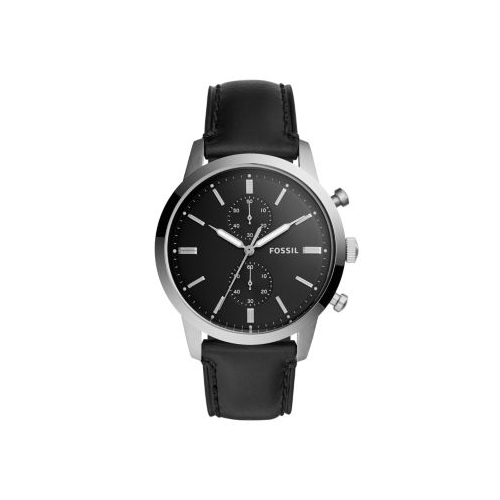 FOSSIL TOWNSMAN BLACK LEATHER WATCH