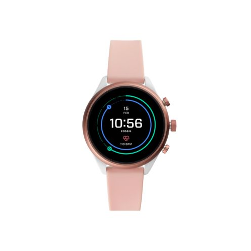 FOSSIL GEN 4 SPORT SMART WATCH BLUSH SILICONE 41MM