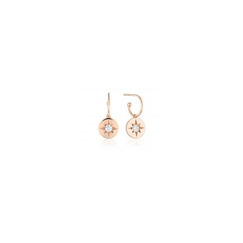 GEORGIN ROSE GOLD STELLAR LIGHTS DROP HOOP EARRINGS