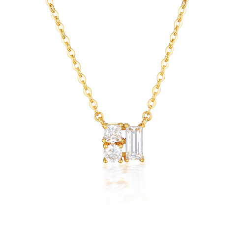 GEORGINI THEA YELLOW GOLD PENDANT