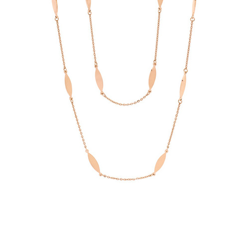 PASTICHE ROSE GOLD STAINLESS STEEL BOHEMIAN NECKLACE 100CM