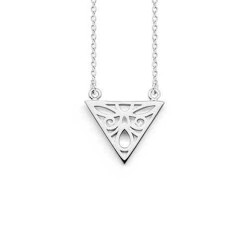 "PASTICHE STERLING SILVER ""FREE SPIRIT"" TRIANGLE NECKLACE"