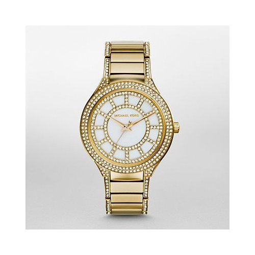 LADIES MICHAEL KORS KERRY GOLD S/STEEL