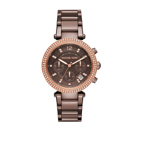 MICHAEL KORS BRONZE STAINLESS STEEL PARKER