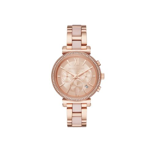 MICHAEL KORS SOFIE ROSE GOLD AND BLUSH ACETATE WATCH