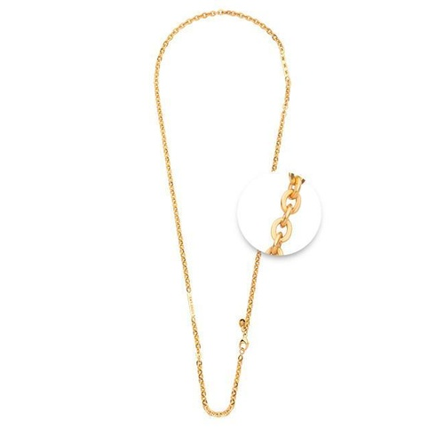 NIKKI LISSONI BAR CABLE NECKLACE GOLD PLATED