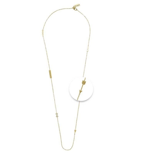 NIKKI LISSONI STATEMENT NECKLACE 60cm GOLD PLATED