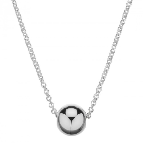 NAJO STERLING SILVER BALL SLIDER NECKLACE