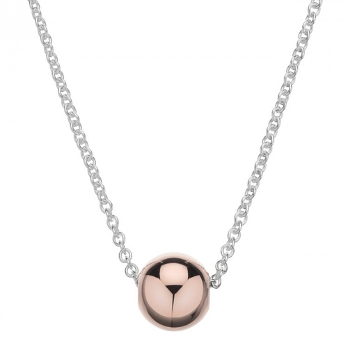 NAJO ROSE GOLD PLATED STERLING SILVER BALL SLIDER NECKLACE