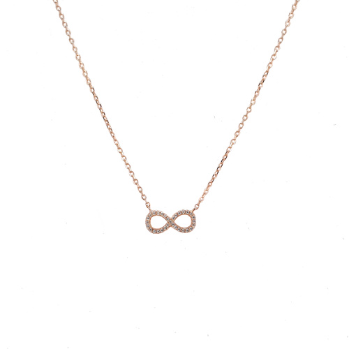 ROSE GOLD CZ INFINITY NECKLACE