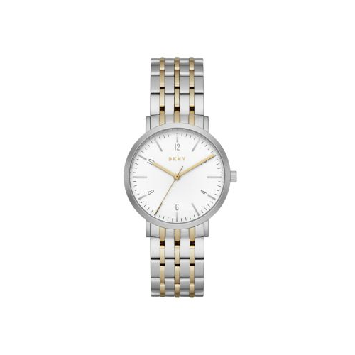 DKNY MINETTA TWO TONE STAINLESS STEEL WATCH