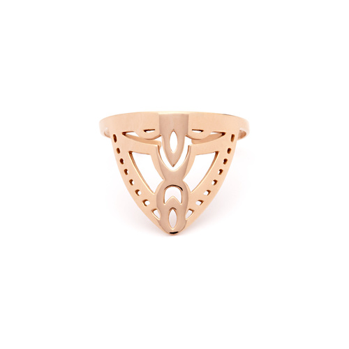 PASTICHE ROSE GOLD PLATED STAINLESS STEEL DAY BREAK RING