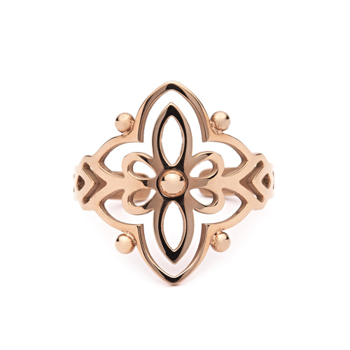PASTICHE ROSE GOLD PLATED STAINLESS STEEL AFLAME RING