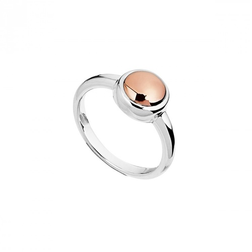 NAJO STERLING SILVER AND ROSE GOLD BABY ROSY GLOW RING