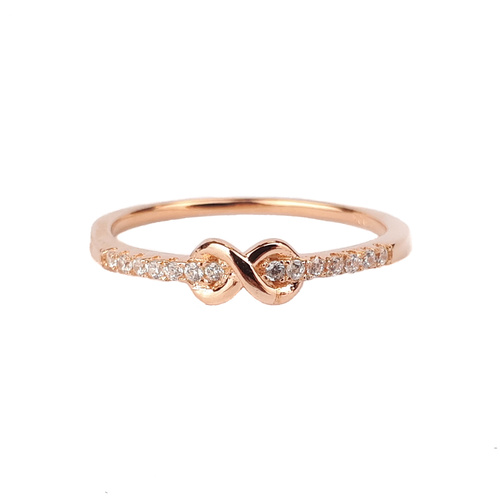 SANTO ROSE GOLD CZ BAND INFINITY RING