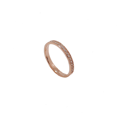 ROSE GOLD CHANNEL SET CZ BAND RING