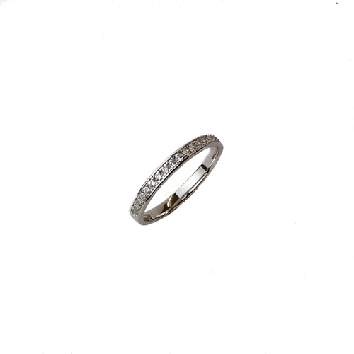SANTO STERLING SILVER CHANNEL SET CZ BAND RING