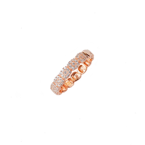 ROSE GOLD SQUARE CZ BAND RING