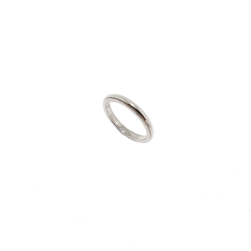 STERLING SILVER PLAIN BAND RING WITH DOT EDGE