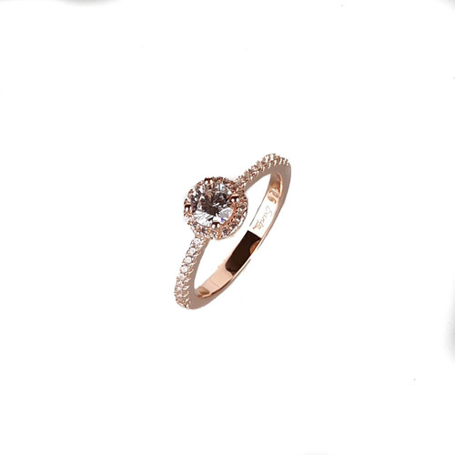 ROSE GOLD SMALL HALO CRYSTAL RING