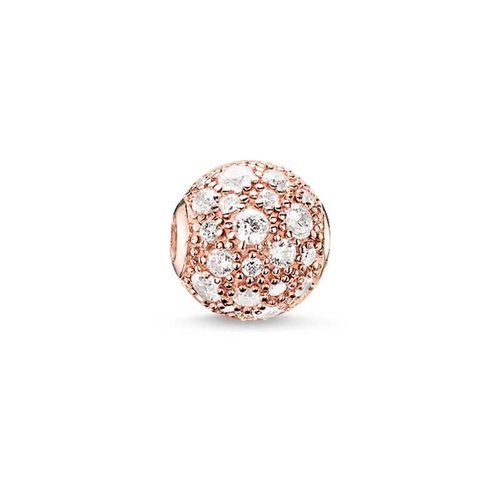 THOMAS SABO CRUSH ROSE GOLD PLATED CUBIC ZIRCONIA KARMA BEAD