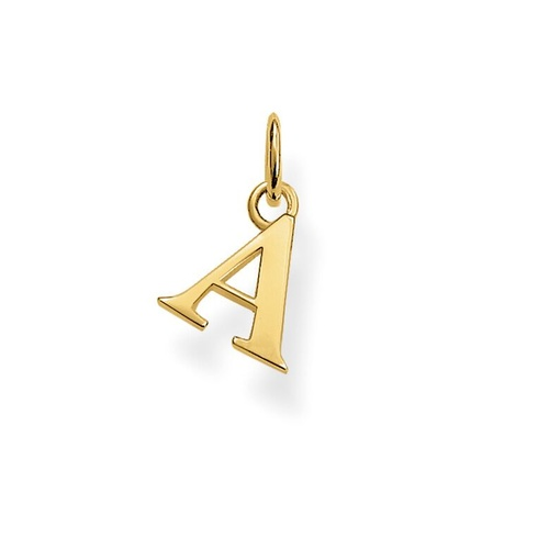 "THOMAS SABO INITIAL ""A"" STERLING SILVER YELLOW GOLD PLATED"