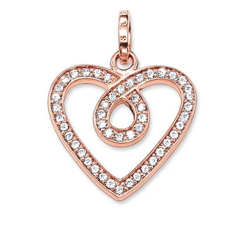 THOMAS SABO ETERNITY HEART ROSE GOLD PLATED