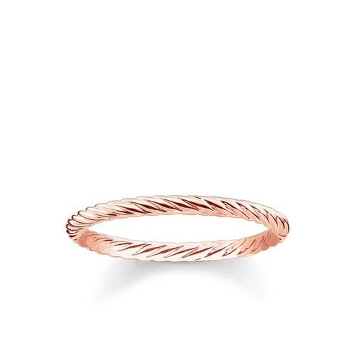 THOMAS SABO FINE ROPE ROSE GOLD PLATED RING